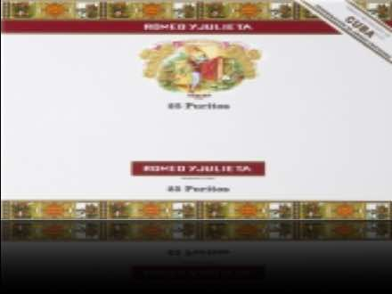 Romeo y Julieta Puritos 25